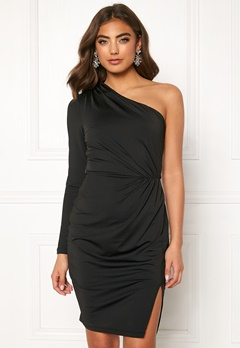 BUBBLEROOM Meryam one shoulder dress Black Bubbleroom.dk