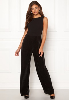Moa Mattsson X Bubbleroom Pleated pants jumpsuit Black Bubbleroom.dk