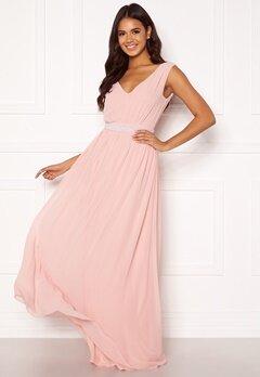 BUBBLEROOM Candance pearl prom dress Dusty pink Bubbleroom.dk