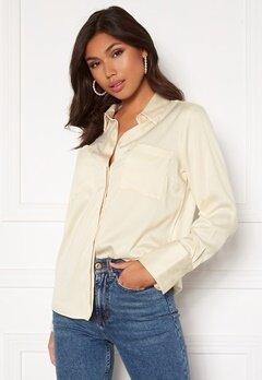 BUBBLEROOM Kelsey utility satin shirt Cream Bubbleroom.dk