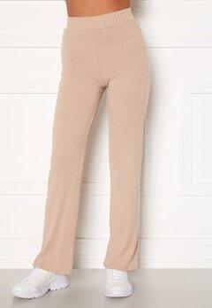 BUBBLEROOM Miley knitted trousers Beige Bubbleroom.dk