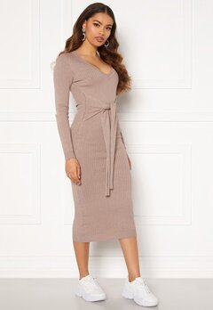 BUBBLEROOM Adelie knitted dress Light brown Bubbleroom.dk
