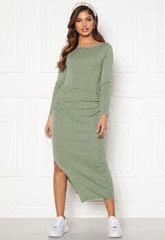 BUBBLEROOM Madina fine knitted dress Dusty green Bubbleroom.dk