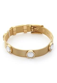 BY JOLIMA Adele Crystal Bracelet Crystal Gold Bubbleroom.dk