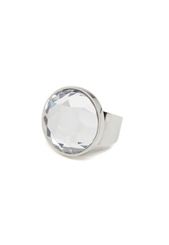 BY JOLIMA Holy Glam Ring Crystal Silver Bubbleroom.dk