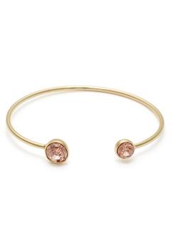 BY JOLIMA Moon Crystal Bracelet Champagne/Gold Bubbleroom.dk