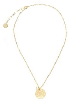 BY JOLIMA Spinn Crystal Necklace Gold Bubbleroom.dk