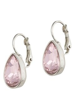 BY JOLIMA Tear Drop Earring Light Rose Silver Bubbleroom.dk