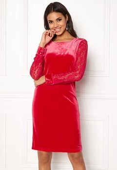 b.young Urbana Dress Crimson Red Bubbleroom.dk