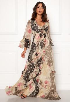byTiMo Chiffon Dress 874 Armona Flowers Bubbleroom.dk