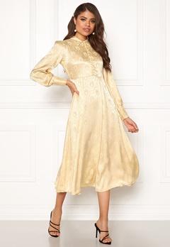 byTiMo Jaquard Shirt Dress 342 Golden Bubbleroom.dk
