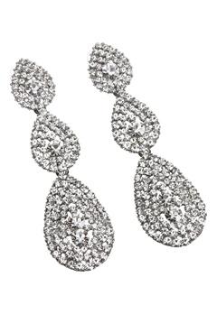 Love Rocks Byzanine Pave Earring Silver colour Bubbleroom.dk