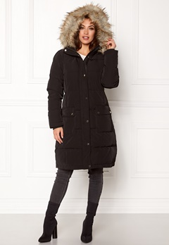 VILA California Down Coat Black Bubbleroom.dk