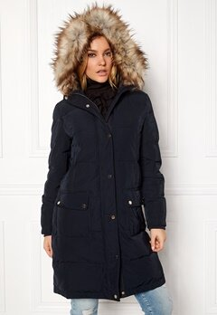 VILA California Down Coat Dark Navy Bubbleroom.dk