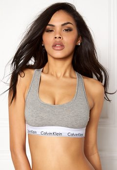 Calvin Klein CK Cotton Bralette 020 Grey Heather Bubbleroom.dk