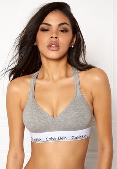 Calvin Klein CK Cotton Bralette Lift 020 Grey Heather Bubbleroom.dk