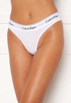 Calvin Klein CK Cotton Thong 100 White Bubbleroom.dk