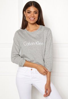 Calvin Klein CK L/S Crew Neck Grey Heather Bubbleroom.dk