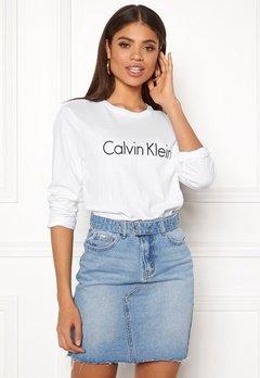 Calvin Klein CK L/S Crew Neck White Bubbleroom.dk