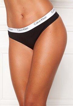 Calvin Klein CK One Cotton Thong Black Bubbleroom.dk