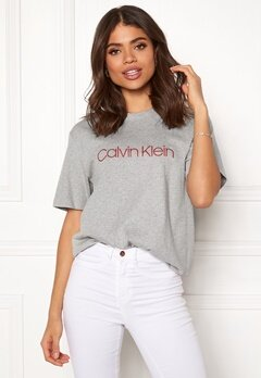 Calvin Klein CK S/S Crew Neck Grey Heather Bubbleroom.dk