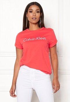 Calvin Klein CK S/S Crew Neck Pink Mango Bubbleroom.dk
