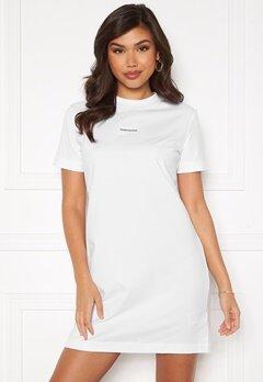 Calvin Klein Jeans Branding T-Shirt Dress Bright White Bubbleroom.dk