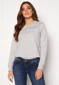 Calvin Klein Jeans Institutional Core Logo CN 038 L Grey Heather Bubbleroom.dk
