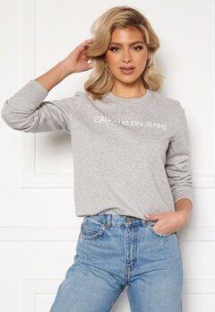 Calvin Klein Jeans Institutional Core Logo CN 038 L Grey Heather Bubbleroom.dk