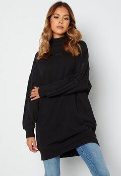 Calvin Klein Jeans Logo Trim Mock Neck Dress BEH Ck Black bubbleroom.dk