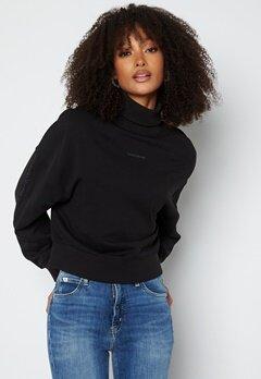 Calvin Klein Jeans Logo Trim Roll Neck BEH Ck Black bubbleroom.dk