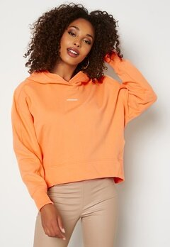 Calvin Klein Jeans Micro Branding Hoodie SFX Crushed Orange bubbleroom.dk