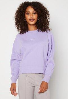 Calvin Klein Jeans Micro Branding Sweatshirt V0K Palma Lilac bubbleroom.dk
