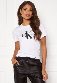 Calvin Klein Jeans Monogram Regular Fit Tee 112 Bright White Bubbleroom.dk