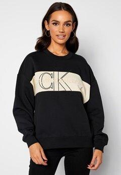 Calvin Klein Jeans Monogram Sweatshirt BEH Ck Black bubbleroom.dk