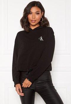 Calvin Klein L/S Hoodie 001 Black Bubbleroom.dk