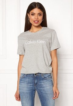 Calvin Klein S/S Crew Neck 020 Grey Heather Bubbleroom.dk
