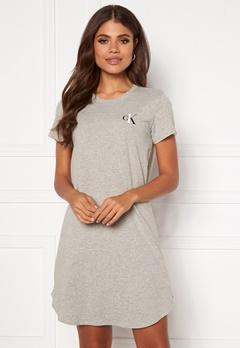 Calvin Klein S/S Nightshirt 020 Grey Heather Bubbleroom.dk
