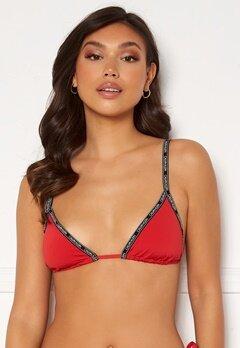 Calvin Klein Triangle Bikini Top XMK Rustic Red Bubbleroom.dk