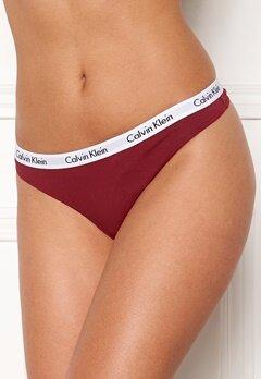 Calvin Klein Thong 3-pack Black/Emberblaze/Grö Bubbleroom.dk