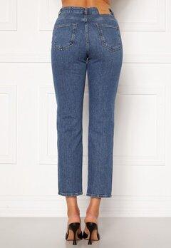 VERO MODA Carla HR Reg Ankle Jeans Medium Blue Denim Bubbleroom.dk