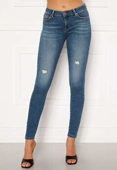ONLY Carmen Life Reg Jeans Medium Blue Denim Bubbleroom.dk