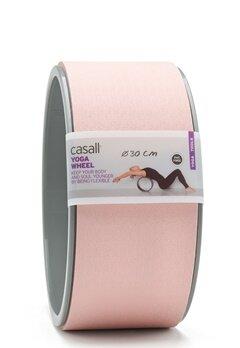 Casall Yoga Wheel Lucky Pink / Grey Bubbleroom.dk