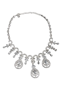 Love Rocks Cascade Necklace Silver colour Bubbleroom.dk