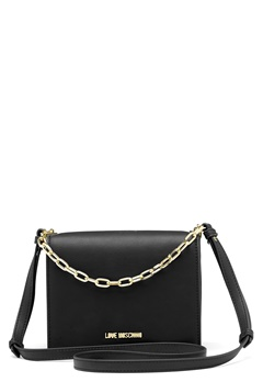 Love Moschino Chain Crossbody Bag 00B Black/Gold Bubbleroom.dk