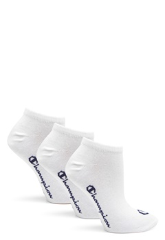 Champion No Show Socks 3-Pack White Bubbleroom.dk
