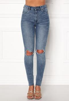 CHEAP MONDAY High Spray Cut Off Jeans Blue Bubbleroom.dk