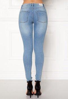 CHEAP MONDAY Mid Spray Jeans Stone Bleach Bubbleroom.dk
