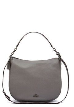 COACH Chelsey Leather Bag DKHGR Heather Grey Bubbleroom.dk