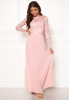 Chi Chi London Annelise Lace Maxi Dress Mink Bubbleroom.dk